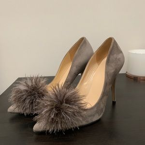 Kate Spade Suede Pumps with Puff